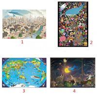 1000 Pcs Puzzle En Bois Contreplaqué Puzzle Dessin À Main Levée Ville de Fantasy Kit Cadeau Famille Gathering Jeu D'apprentissage Cognitive Capacité