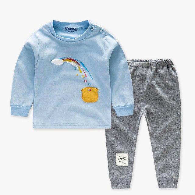 111975505 Children Kids Pajamas Clothing Sets Cotton Autumn Winter Suit Long ...