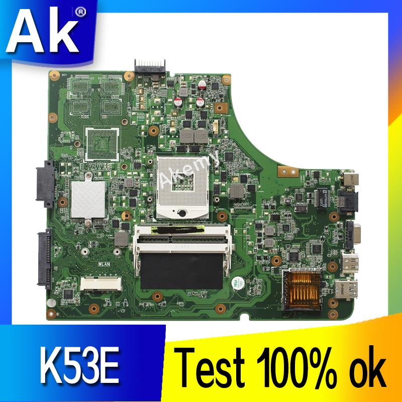 AK K53E Laptop Motherboard For ASUS K53E K53SD K53 A53E A53S X53S X53E P53 Test Original Mainboard GM