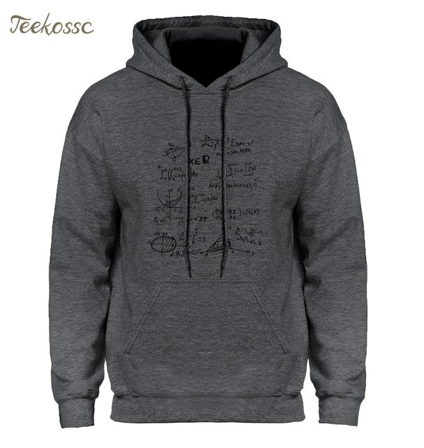 Adult Science Funny Math Formulas Hoodie Hoodies Sweatshirt Men 2018 Winter Autumn Hooded Hoody Harajuku Divertida Sportswear