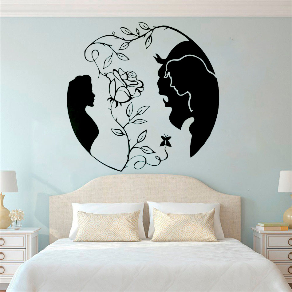 Characters Beauty /& Beast Be Our Guest Disney Inspired Vinyl Wall Sticker Decal