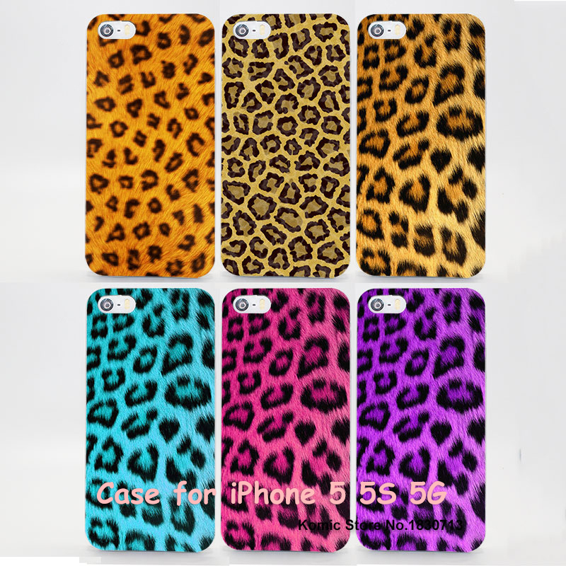 new fashion colorful leopardite pink Design transparent clear Skin Cover Case for Apple iPhone 7 7s 6 6s Plus SE 4 4s 5 5s 5c