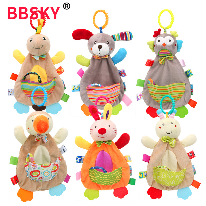 Baby Rattles Mobiles Soft Baby Toys 0 12 Months Towel Bed Bell Cute Animal Christmas Crib Bebe Stroller Montessori Gift