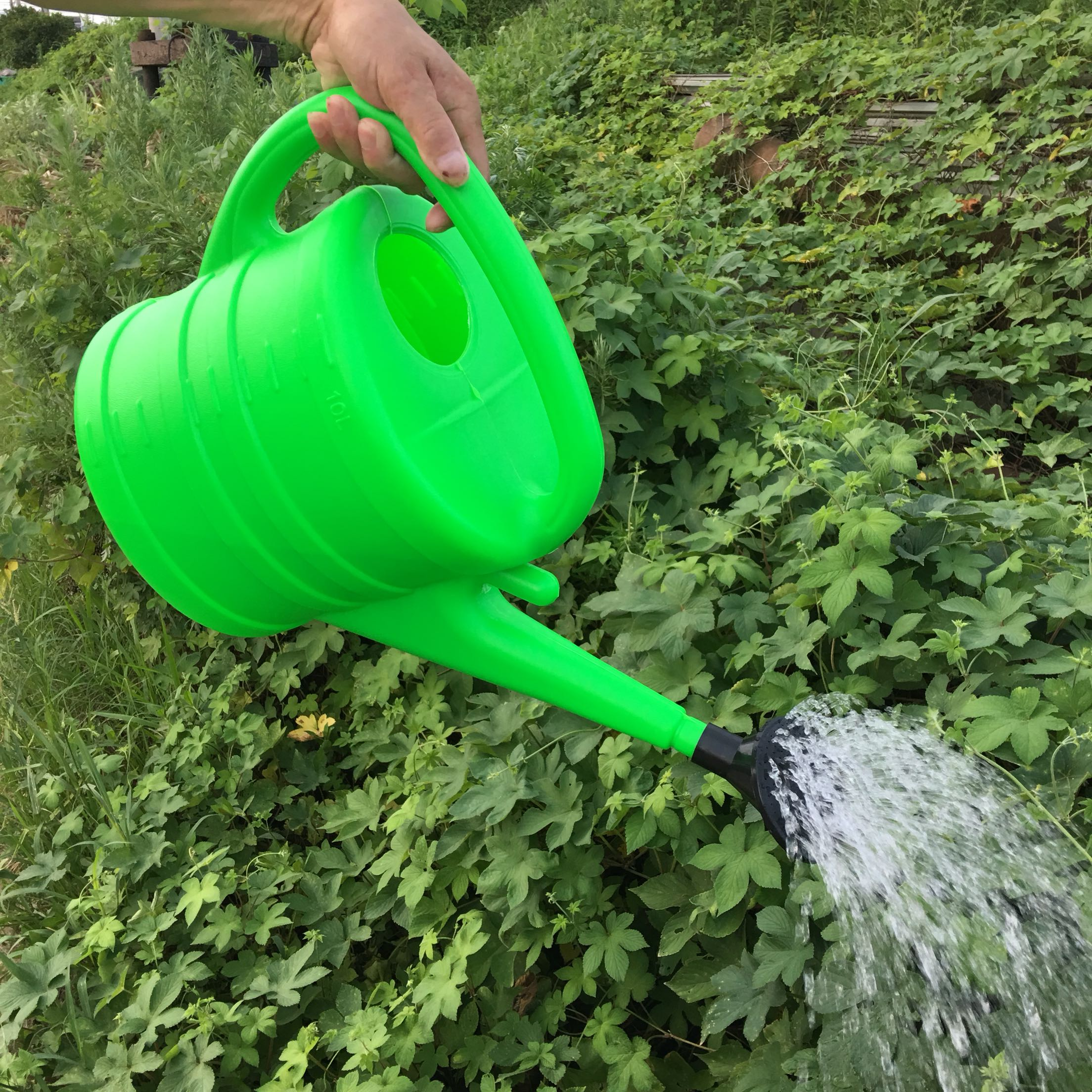 10L Large Capacity Gardening Tools Garden Agricultural Plastics Sprinkling Kettle Green Water Cans