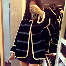 arlene sain custom women  Black lamb fur fur imports Thin handsome profile Female loose free shippig
