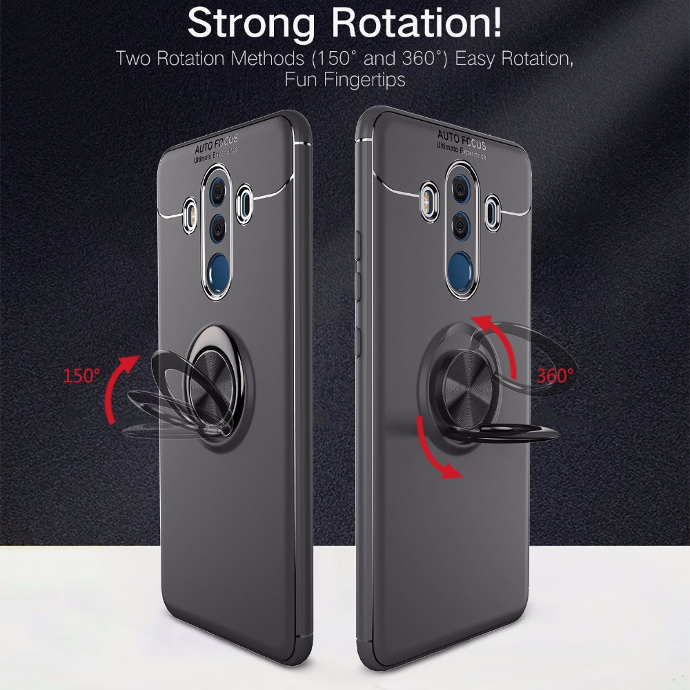Magnetic Car Holder TPU Case For Huawei Mate 9 10 Pro Case Finger Ring Phone shockproof Cover For Huawei Mate 11 Lite SE Coque