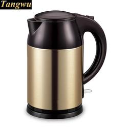 electric kettle has a large capacity of 1.8 litres and double stainless steel
