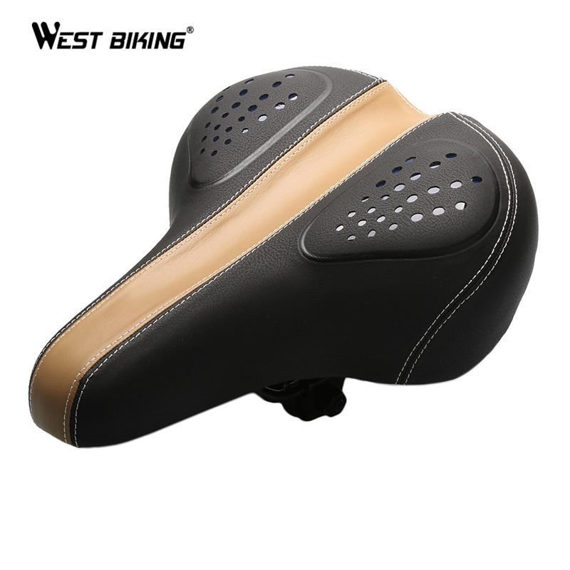 WEST BIKING Bike Saddle Bicycle Cycling Seat Soft Cushion Pad Comfort Mountain Sporty Wide Big Bum Pad Bike Bicycle Saddle Seat