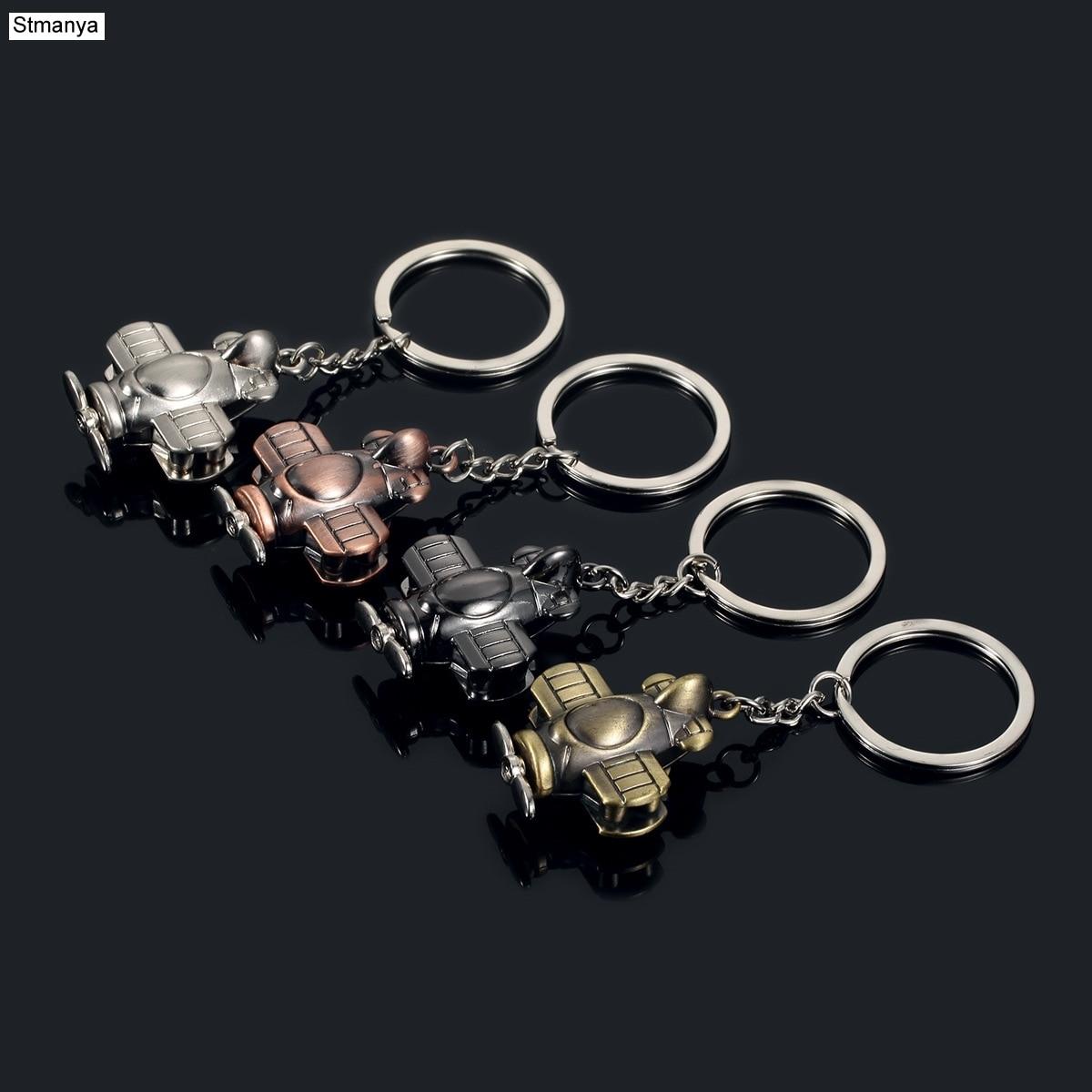 Fashion New Men Key Chain Car Women Car Metal Keychain Creative Party Gift Jewelry Aircraft Bag Charm Accessories Key Ring K1311