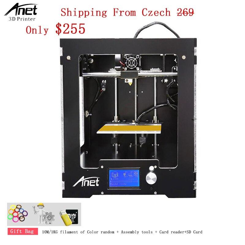 Алюминиевая композитная панель Anet A3s 3D принтер с высокой точностью 0,1 0,3 мм 1,75 мм PLA ABS HIPS нить 3D принтер машина продажа