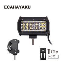 ECAHAYAKU 2x 5 inch 90W 4 Rows Led Work Light Car Driving Lamp Off road Bar Combo For 4x4 Trucks Off-road Vehicles