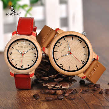 BOBO BIRD Lovers' Bamboo Watches Relogio Feminino Analog Quartz Casual Wristwatches Handmade wooden watch W-aQ22 DROP Shipping - DISCOUNT ITEM  40% OFF All Category