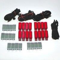 4 компл. дверная Предупреждение свет + светодиодный подкладке для ног огни + кабель проводов для Q3 Q5 Q7 A3 A4 s4 A6 S6 RS7 3AD947409 8KD947411