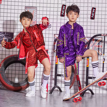 New children's performance clothing street dance suit jazz dance costume dance clothes catwalk performance clothing music driven dance synthesis by multimodal dance performance analysis