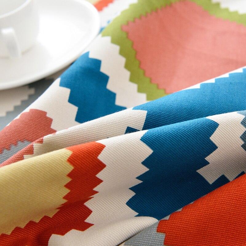Европейский Стиль простые геометрические скатерть хлопок белье ужин Скатерти прямоугольный Кофе Таблица крышка для вечерние Рождество