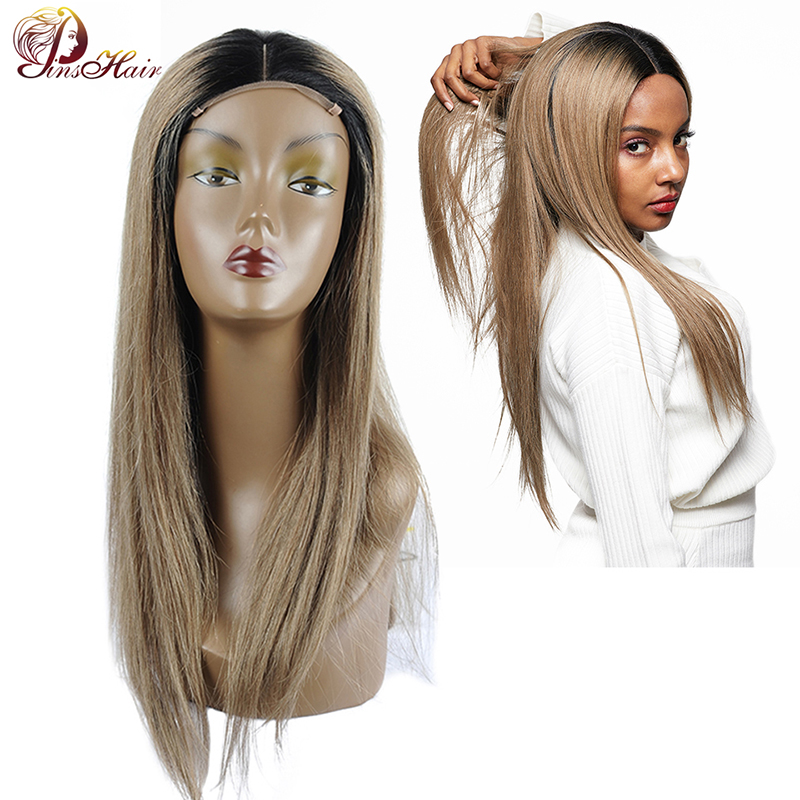 Pinshair Ombre Blonde Lace Front Human Hair Wigs 1B/126 Brazilian Straight Hair Lace Front Wig Nonremy Hair Wigs For Black Women