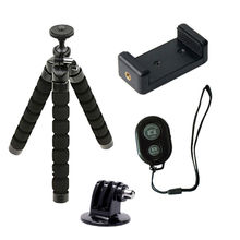 Bluetooth Remote Mini Tripod Stand Holder For iPhone Android Phone With Clip also For gopro hero 5 4 3