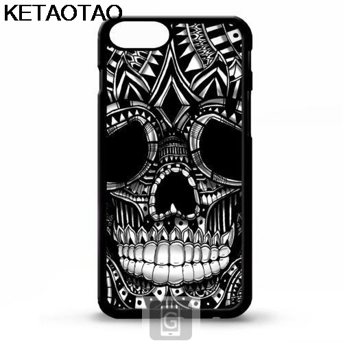 KETAOTAO Ornament graphic Gothic skull head Phone Cases for iPhone 4S 5C 5S 6S 7 8 Plus X SE 6 5 Case Soft TPU Rubber Silicone