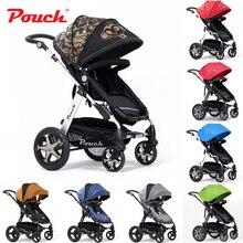 New Desigh Pouch High Landscape Baby Stroller Four-way Baby/Children Folding Stroller Can Sit or Lie Multifunction Stroller