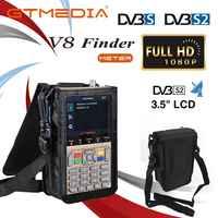 Medidor de buscador V8 SatFinder buscador de satélite Digital DVB S/S2/S2X HD 1080P Receptor de señal de TV Receptor buscador de ubicación de decodificador satelital