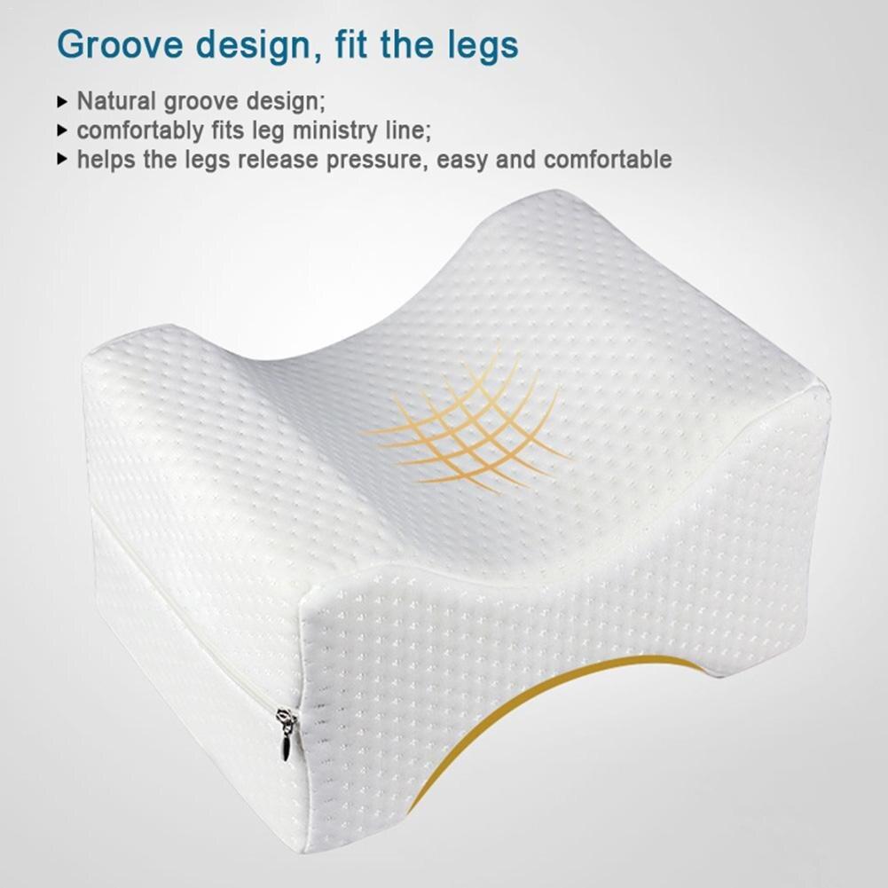 Espuma de memoria almohada pierna para Maternit gran alivio para el dolor de espalda cadera rodilla espuma almohada mejora la circulación para el lado durmientes