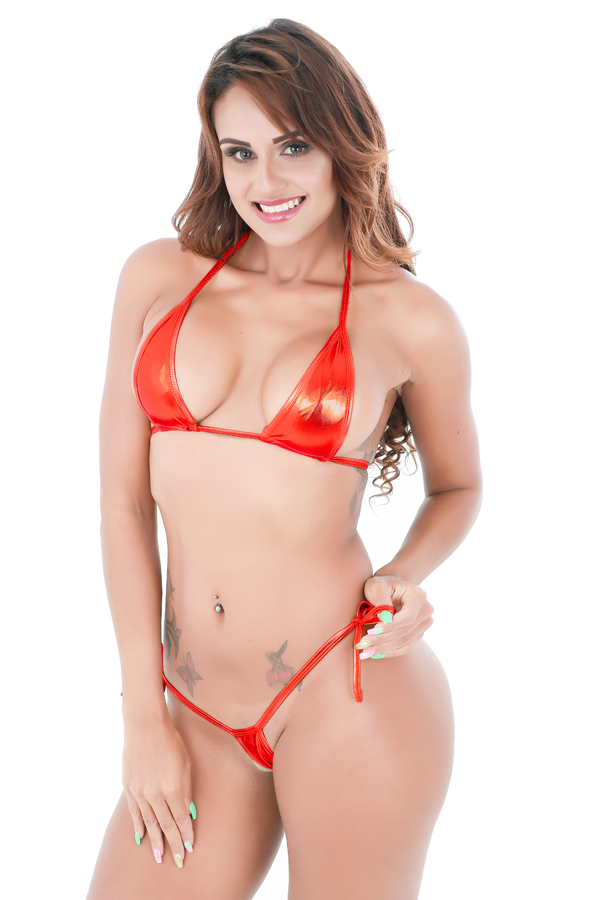 Sexy Hot Women Metallic Bra And Thong Sets Erotic Beach -4823