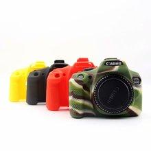 Силиконовая кожа брони чехол корпус протектор для Canon 1300D 1500D Rebel T6 Kiss X80 цифровая камера