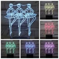 Ballet Figure 3d Led Lamp Bedside Multicolor Rgb Decorative Light Girl Childrens Kids Gift Balletto Usb 3d Led Night Light Table