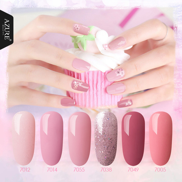 Azure Beauty Gel Nail Polish 6pcs Lot Kit Soak Off Uv Long Lasting