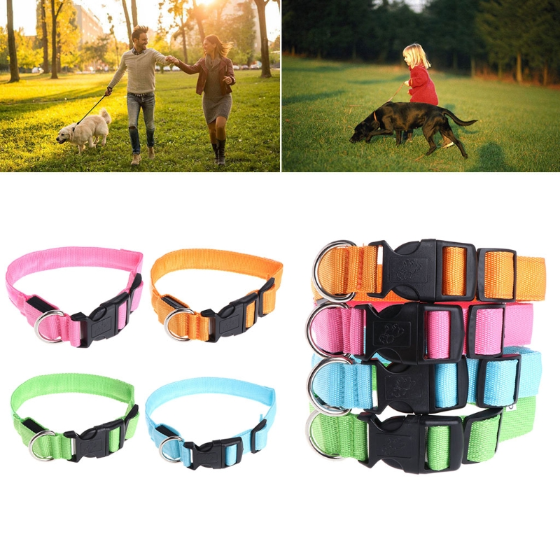 LED Pet Collar Necklace Light Luminous Lattice Night Safety Dog Outdoor Collar