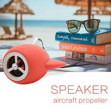 Itek Mini Cute Portable Wireless Bluetooth Speaker Aircraft propeller Design Speakers Hands-free Call Support TF Card FM Radio