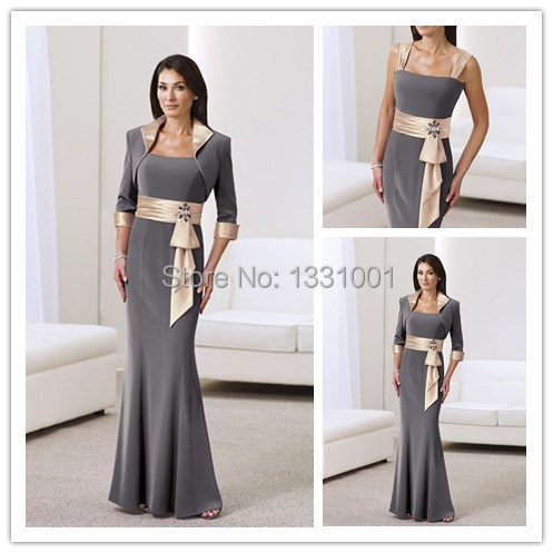 Mother Of The Bride Short Grey Dresses With Sleeve Pee Jacket For Hot Mothers 2017 New Brides South Africa In From