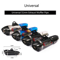Universal 51 mm Exhaust Muffler Pipe Motorcycle Exhaust Tips Stainless Steel Tail Escape with Removable DB Killer Dirt Bike ATV