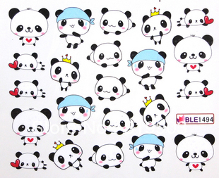 Panda Nail Art Water Transfer Decal Stickers Print Accessories Wholsaledrop