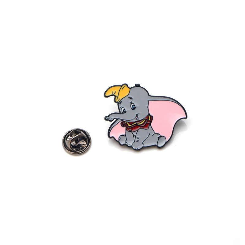 Gajah Lucu Seng Alloy Dasi Pin Lencana untuk Kemeja Tas Pakaian Topi Ransel Sepatu Bros Lencana Medali Dekorasi E0184
