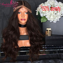 Top 7A Virgin Brazilian Thick 150% Density Human Hair Wig Full Lace Wig body wave Cheap Human Hair Lace Front Wig Glueless Wig