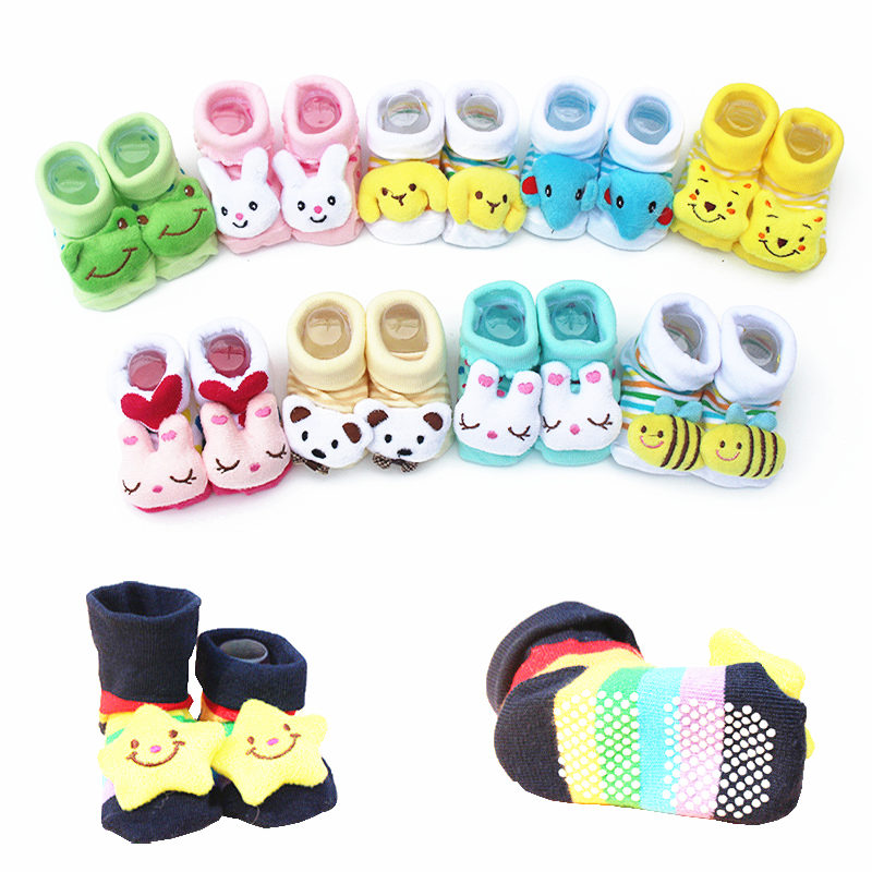 Baby Socks Lovely 3D Cartoon Big Eyes Toddler Boy Girl Warm Non-slip Floor Socks