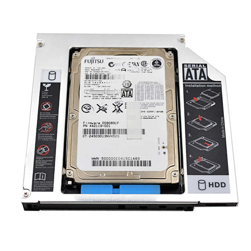 12.7mm IDE to SATA HDD Hard Drive Caddy Thickness 2.5 inch Universal Second HDD Caddy