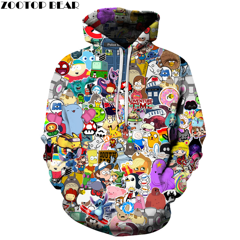 Anime Poster 3D Sweatshirts Men/Women Hoodies With Hat Print Fashion Autumn Winter Loose Thin Hooded Hoody Tops