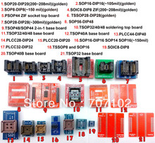 21 sztuk adaptery Uniwersalne zestawy dla programator TL866A TL866cs adapter