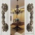 2pcs Zinc Alloy European Antique Door Handles Bronze Villa Archaize Wooden Door Glass Door Handle Steel Pull Door Accessories