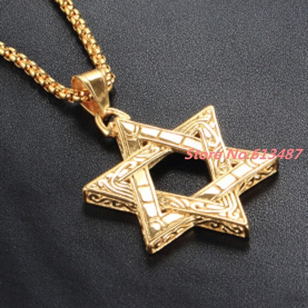 cd7aa77d1f99 Grado Superior casting de plata y oro Tono de acero inoxidable estrella COLLAR  COLGANTE cadena gargantilla regalo de la joyería