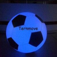 Большие надувные Футбол бросали шар Свет трогательно Цвет Изменение светодиодный светящиеся Футбол зигота мяч ПВХ небо воздушные шары