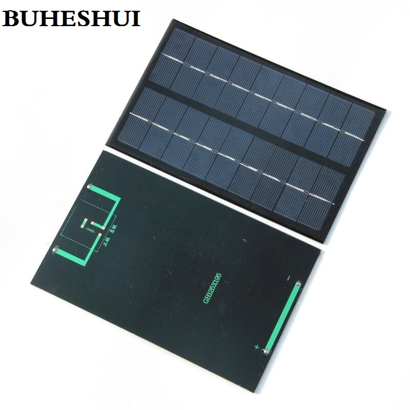 BUHESHUI 9V 3W Mini Solar Cell polycrystalline Solar Battery Panel Charge Small Solar Power Education 125*195MM Free Shipping