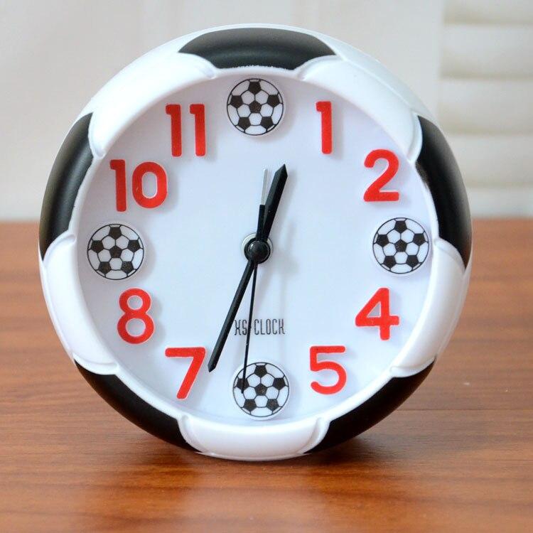 New arrival Quartz clocks fashion watches 3d real Football alarm clock for kid children bedroom home decor gift