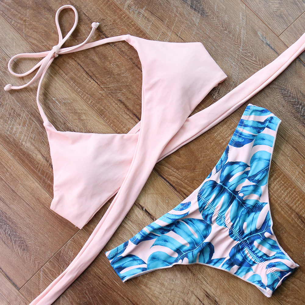 Bikinis Sexy Cross Bandage Swimwear Women Adjustable Bikini Set Swimsuit  Bathing Suit Push Up Biquinis Women's Swimming Suit  2