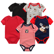 Unisex Baby Rompers Short Sleeve 100%Cotton Newborn Boys&