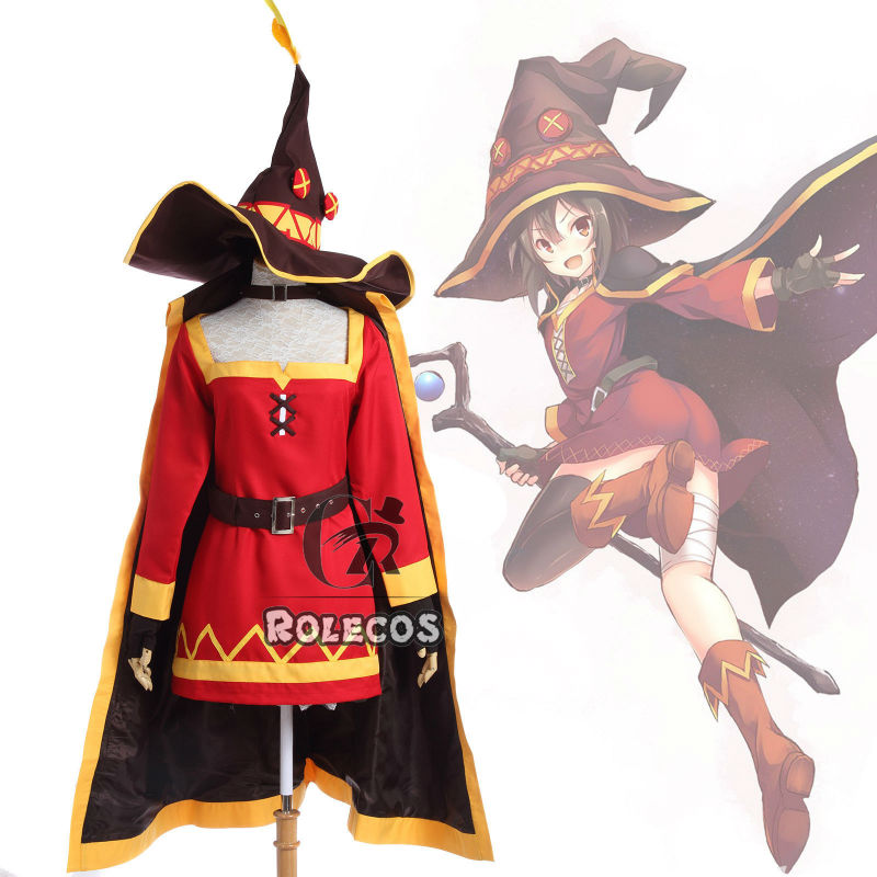 Anime KonoSuba God's Blessing On This Wonderful World Megumin Cosplay Costume Full Set