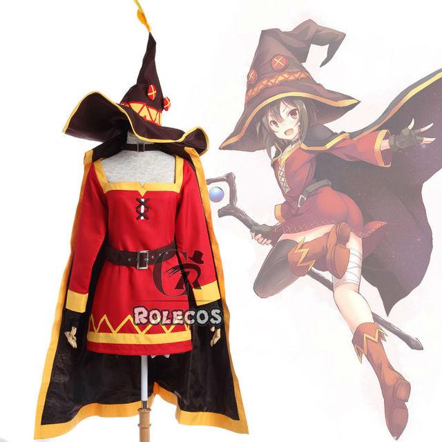 Anime KonoSuba la Bendición de Dios En Este Mundo Maravilloso Megumin Cosplay Costume Set Completo