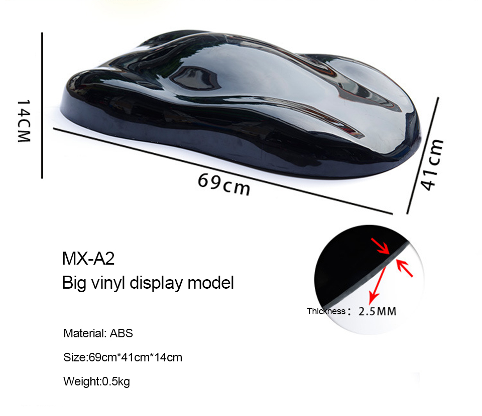 Image 3 - 69*41cm Plasti Dip Display Model Plastid Car Speed Shape For Vinyl / Dip Paint Colors Displaying MO A2-in Car Stickers from Automobiles & Motorcycles